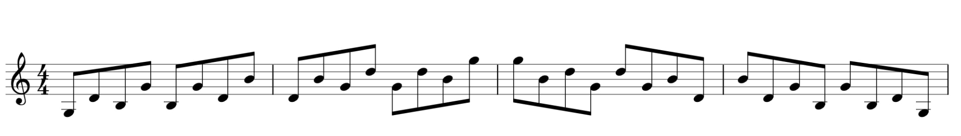 G major broken chord alternative pattern