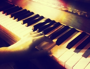 Left Hand Playing Piano
